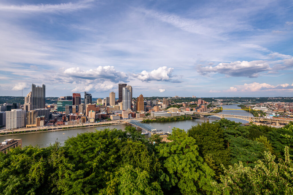 Views of the Pittsburgh skyline from Mount Washington